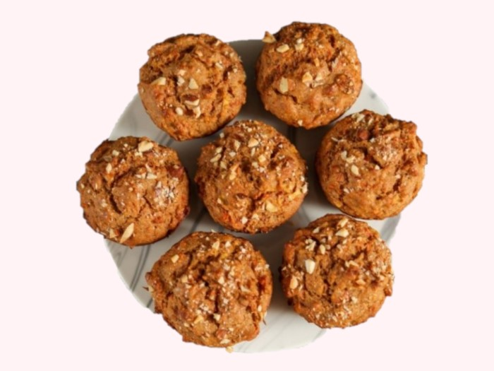 Plain Whole-wheat eggless carrot muffins