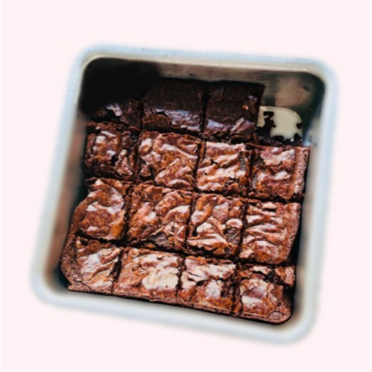 Fudgy brownies with crackly top