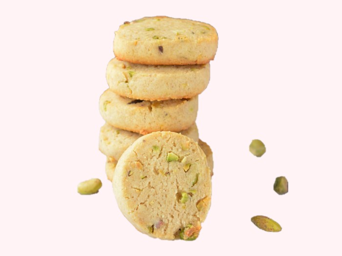 Whole wheat pistachio sugar free cookies